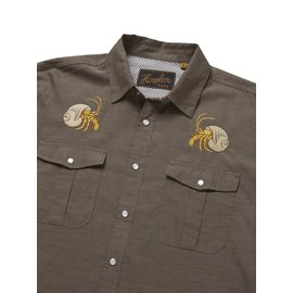 Howler Gacho Snapshirt  Brown Oxford Hermit Crab