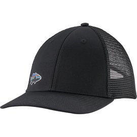 Small Fitz Roy Fish LoPro Trucker Hat Black w/Smallmouth