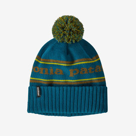 Powder Town Beanie Park Stripe Knit: Crater Blue