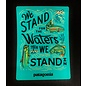 """Patagonia waters we stand in sticker 5"""" X 3.5"""""""