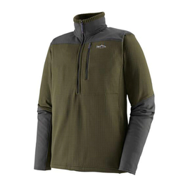 M's L/S R1 Fitz Roy 1/4 Zip Basin Green L