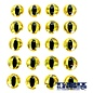 Snake Eyes 8.0mm-Gold Black