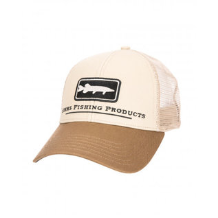 Simms Musky Icon Trucker Tan
