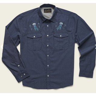 Gaucho Snapshirt Deep Blue Microstripe Jellyfish
