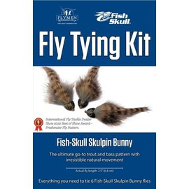 Flymen Fly Tying Kit-Fish Skull Skulpin Bunny