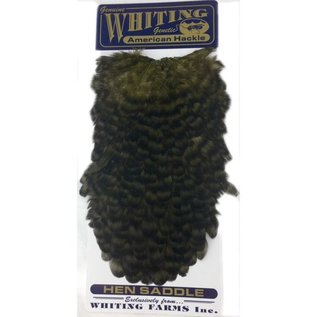 Whiting American Hen Saddle Grizzly
