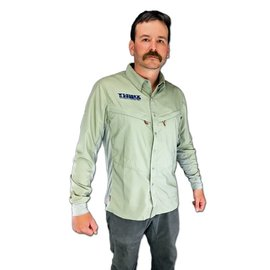 SIMMS Tight Lines Logo Intruder BiComp Shirt - Dark Khaki
