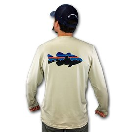 PATAGONIA Patagonia Graphic Tech Fish Tee - Fitz Roy Bass: Pelican