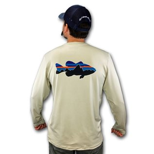 Patagonia Graphic Tech Fish Tee - Fitz Roy Bass: Pelican