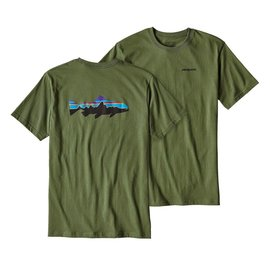 Patagonia Fitz Roy Trout Cotton T-Shirt Fatigue Green