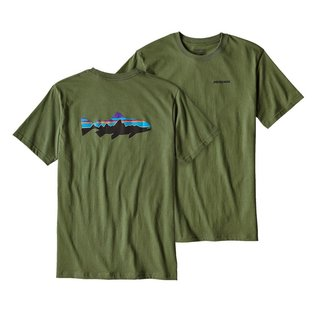 PATAGONIA Patagonia Fitz Roy Trout Cotton T-Shirt Fatigue Green