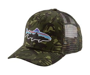 29d75875 PATAGONIA Patagonia/Tight Lines Fitzroy Trout Trucker Hat Mid Crown Big  Camo Fatigue Green - Tight Lines Fly Fishing Co.