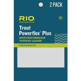RIO 9' Rio Powerflex Plus Leader 2 Pack