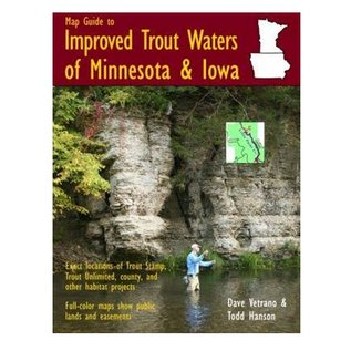 MAP GUIDED TO IMPROVED TROUT WATERS OF  MN & IA