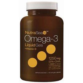 NutraSea Omega-3  +D 1250mg 100softgels