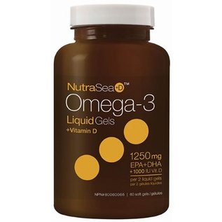 NutraSea Omega-3  +D 1250mg 100softgels