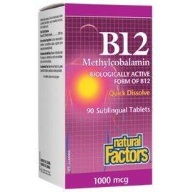 Natural Factors B12 natural factors 1000mcg-90 tabs sublingual