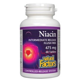 Natural Factors Niacine 475mg  Natural factors- 60caps