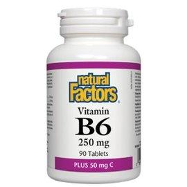 Natural Factors Vitamin B6 250mg Plus 50mg C- Natural Factors- 90tabs
