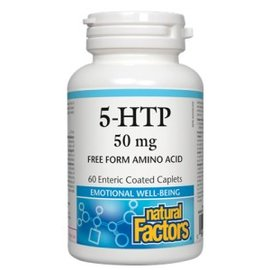 Natural Factors 5-HTP 50mg 60 enteric coated caplets