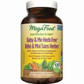Mega Food Baby and me Herb Free 120 tablets