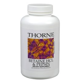 Thorne Betaine HCL/Pepsin 225 VCaps