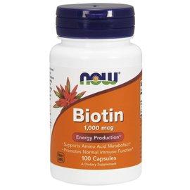 Now Biotin 1000mcg 100caps