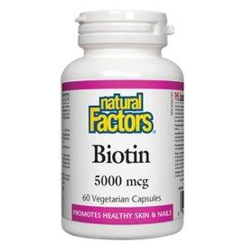 Natural Factors Biotin 5000mcg 60vcaps