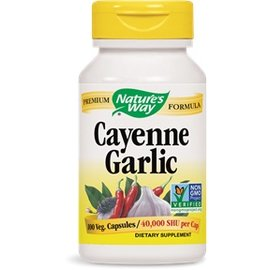 Nature's Way Cayenne and Garlic 100 capsules 530mg