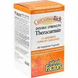 Natural Factors CurcuminRich Double Strength Theracurmin 60/VCAP
