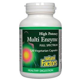 Natural Factors High Potency Multi Enzyme Vegetarian Formula 120/VCAP