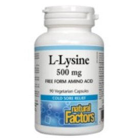 Natural Factors L-Lysine 500mg 90vcaps