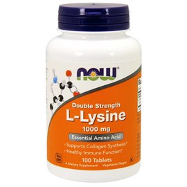 Now L-Lysine double strength1000mg 100tabs