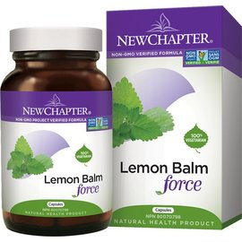 New Chapter Lemon Balm Force 30 caps (relief of stress, insomnia, restlessness)