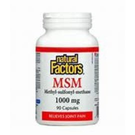 Natural Factors MSM 1,000 mg 90/CAP