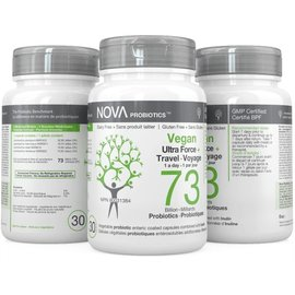 Nova Nova Probiotics 73 bil ultraforce travel 30gels Vegan