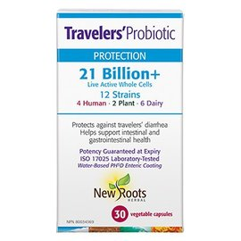 New Roots Traveler's Probiotic 21billion 30 capsules