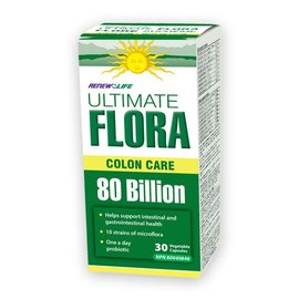 Renew Life Ultimate Flora Colon care 80billion 30 vegetable capsules