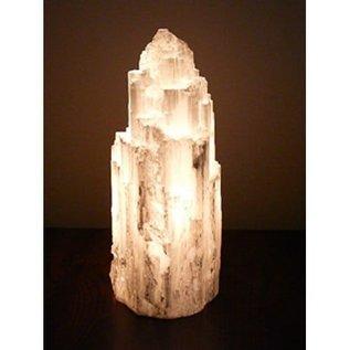 Desert Rose of Africa Carved Selenite Salt Lamp