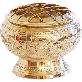 Kheops Solid Brass Incense Burner