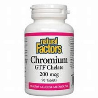 Natural Factors Chromium GTF Chelate 200 mcg