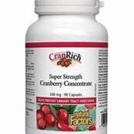 Natural Factors CranRich 500 mg 90/CAP