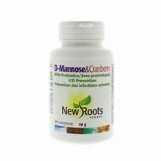 New Roots D mannose & cranberry powder 50g