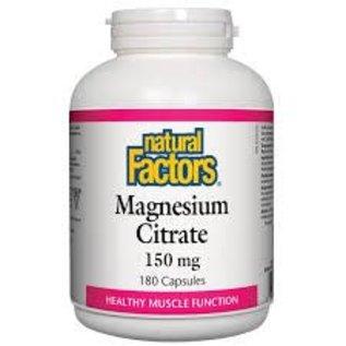 Natural Factors Magnesium Citrate 150mg 180caps