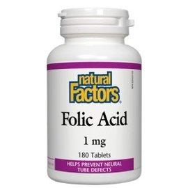 Natural Factors Folic Acid 1gr 180 tabs