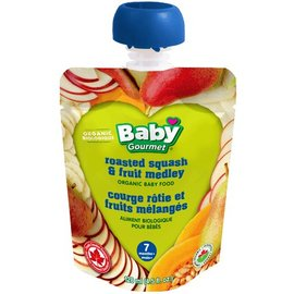 Organic Baby Gourmet roasted squash & fruit medley 7+months 128ml