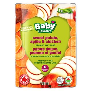 Organic Baby Gourmet sweet potato, apple & chicken 6+months 128ml