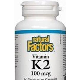 Natural Factors Vitamin K2 100mcg MK-7 from Natto bean 120vcaps