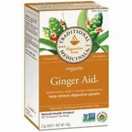 Traditional Medicinals Ginger Aid organic 20 wrapped tea bags