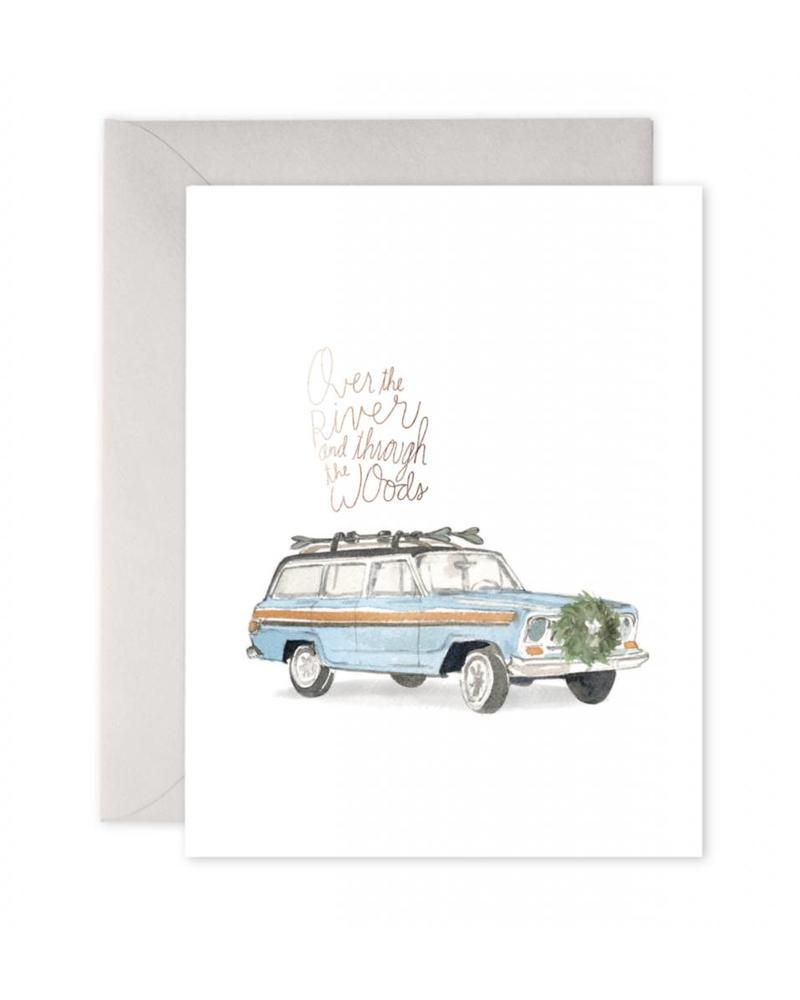 Woodsy Wagoneer Greeting Card